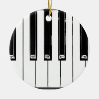 Music keyboard ceramic ornament