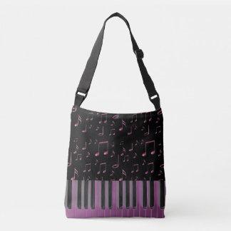 music keyboard dark pink crossbody bag