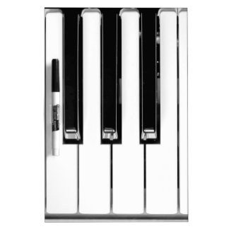 Music keyboard Dry-Erase board