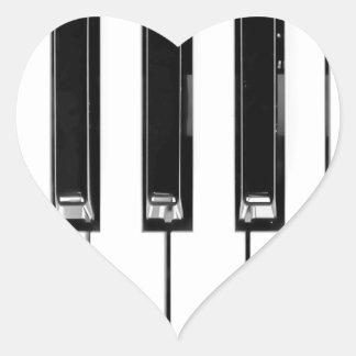Music keyboard heart sticker