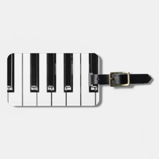 Music keyboard luggage tag