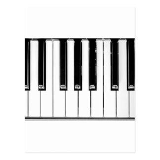 Music keyboard postcard
