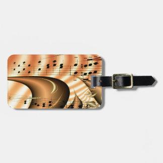 Music Keys Notes World Destiny Art Digital Luggage Tag