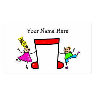 Music Kids Double-Sided Standard Business Cards (Pack Of 100)