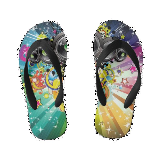 Music Kid's Flip Flops