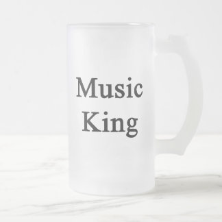 Music King Frosted Glass Beer Mug