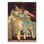 Music Lesson by Leighton, Vintage Victorian Art Greeting Cards