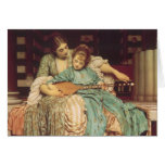 Music Lesson by Leighton, Vintage Victorian Art Cards