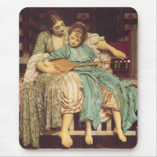 Music Lesson by Leighton Vintage Victorian Art Mouse Pads