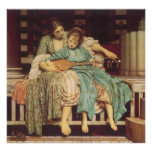 Music Lesson by Leighton, Vintage Victorian Art Print