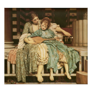 Music Lesson Frederic Leighton Fine Art Poster