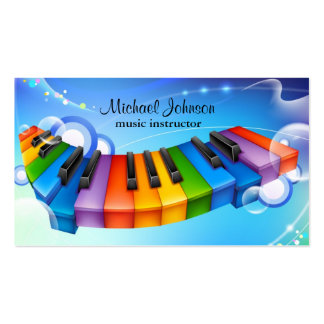 Music Lesson Instructor Business Card Templates