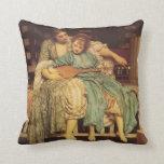 Music Lesson  Pre-Raphaelite Throw Pillow