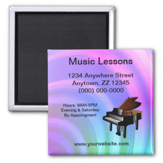 Music Lessons Business Card Magnet