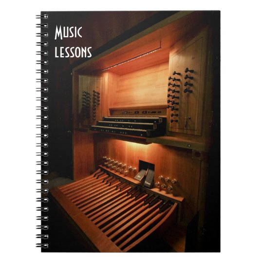 Music lessons notebook