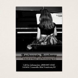 Music Lessons on the Piano Business Card