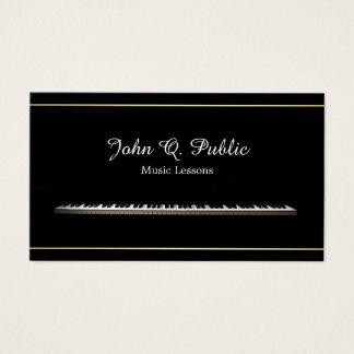 Music Lessons Teacher Professional Elegant Business Card