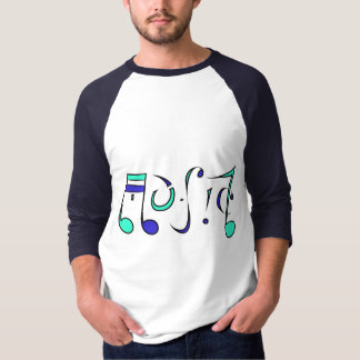 Music Life Ambigram T-Shirt (Front & Back Designs)