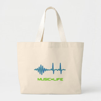 Music=Life Canvas Bag