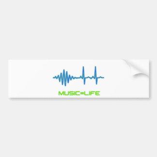Music=Life Car Bumper Sticker