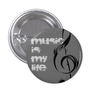 music = life 1 inch round button