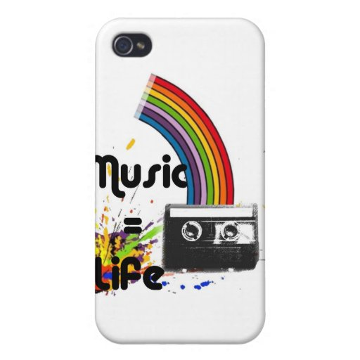 Music = Life Covers For iPhone 4