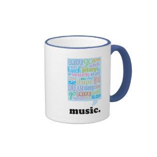 Music Life Gift Coffee Mugs