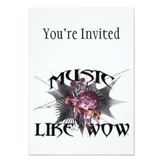 Music Like Wow 5x7 Paper Invitation Card