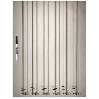 Music Lines Blank Notation Erase Board Dry Erase Boards
