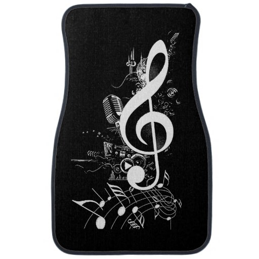 Music Lives in me_ Floor Mat