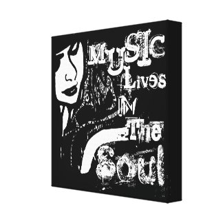 Music Lives in the Soul Canvas Print