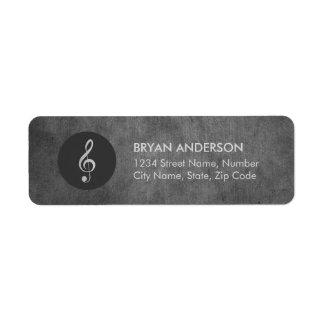 Music Logo Vintage Address Label