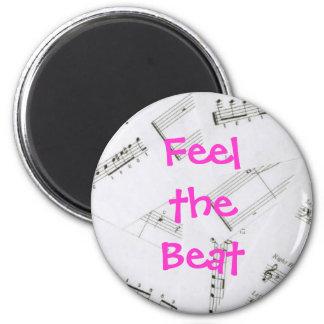 Music Love 2 Inch Round Magnet