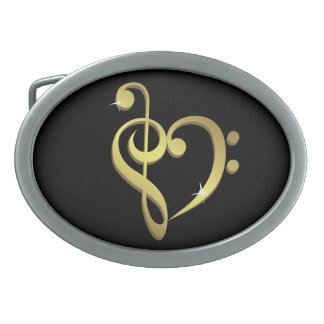 Music love belt buckle
