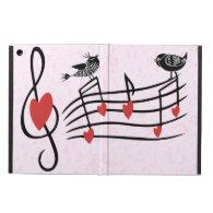 Music Love Birds on Pink iPad Air Case