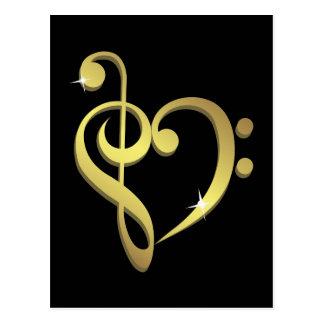 Music love postcard