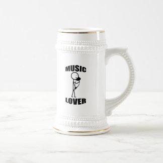 Music Lover 18 Oz Beer Stein