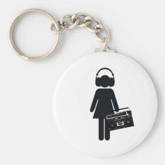 Music Lover Basic Round Button Keychain