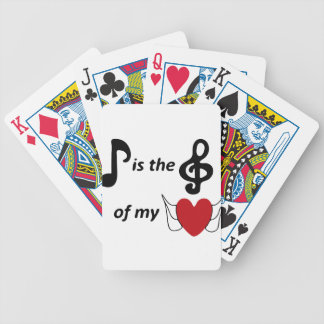 Music lover bicycle playing cards