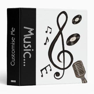 Music Lover 3 Ring Binder