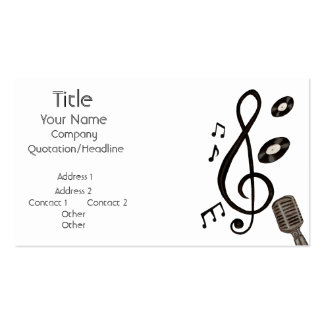 Music Lover Business Card Templates