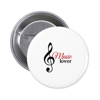 Music Lover Pinback Buttons