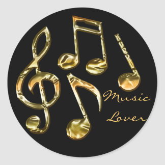 MUSIC LOVER Collection Classic Round Sticker