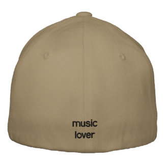 music lover embroidered hat