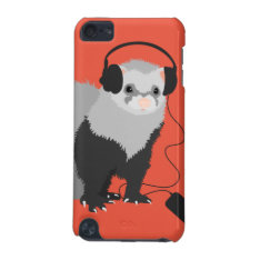 Music Lover Ferret Ipod Touch 5g Cover at Zazzle