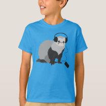 Music Lover Ferret Kids T-Shirt