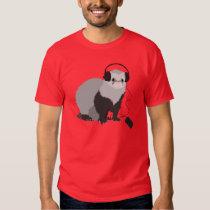 Music Lover Ferret Mens T Shirt