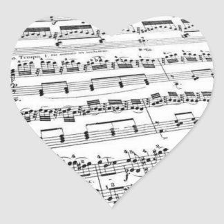 Music Lover Heart Sticker