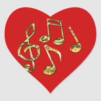 MUSIC-LOVER Heart Stickers