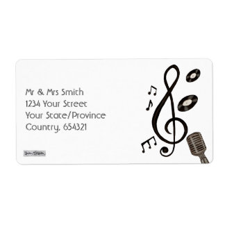 Music Lover Personalized Shipping Labels
